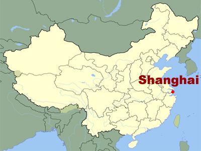 Shanghai China Map World