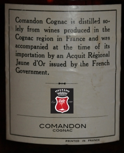 Cognac Paradis Comandon Acquit Regional Jaune D'Or