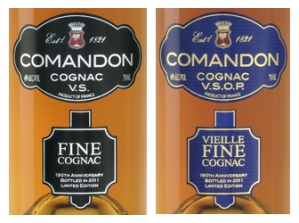 Cognac Paradis Comandon Labels Fine VS and VSOP