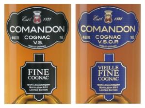 Cognac Paradis Comandon Labels Fine VS and VSOP