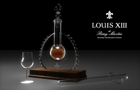 Cognac Paradis Louis XIII Futur Heritage for Remy Martin with glass