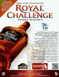 Cognac Paradis Presents the Whisky Royal Challenge, made in India