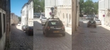 Google Earth Video Car in Rue Saulnier Downtown Cognac