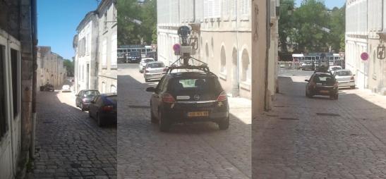 Google Earth Video Car in Rue Saulnier Downtown Cognac