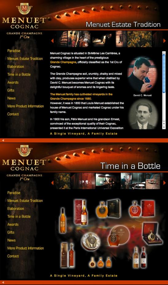 Cognac Menuet Old Website