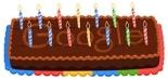 Google Doodle 14th Anniversary Cake