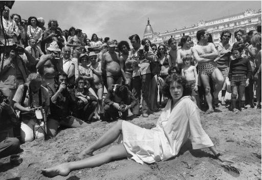 Sylvia Kristel, aka Emmanuelle in Cannes