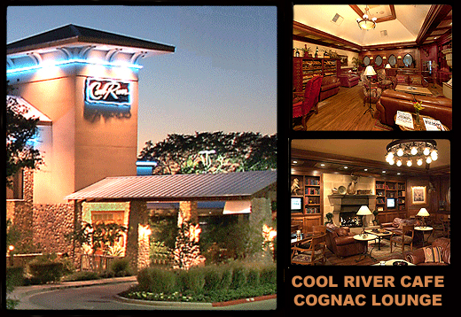 Cool River Cafe Cognac Lounge in Austin, Dallas and Denver