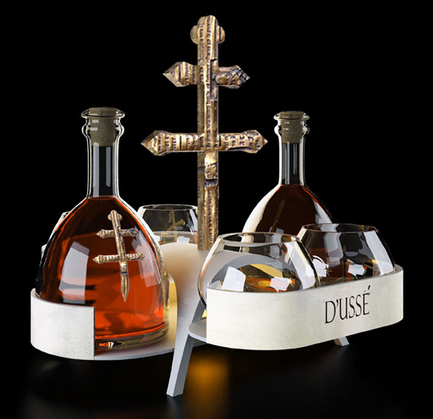 Cognac d usse gets a special tray by bloom design in miami for Cognac design