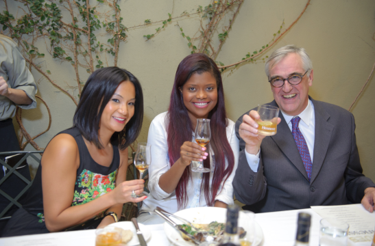 Karen Civil with Maurice Hennessy