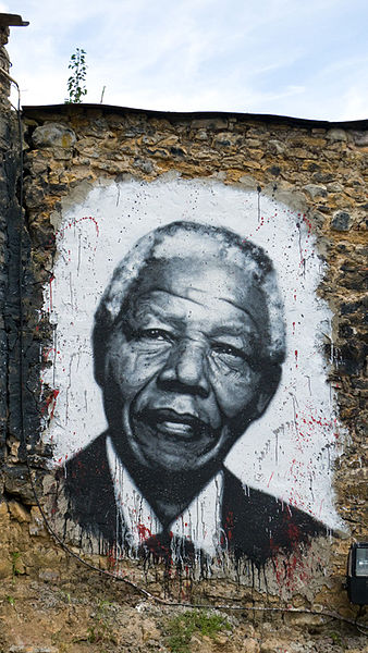 Mandela painted at the DDC. Courtesy of Organ Museum ©2011. Photographed by Thierry Ehrmann.