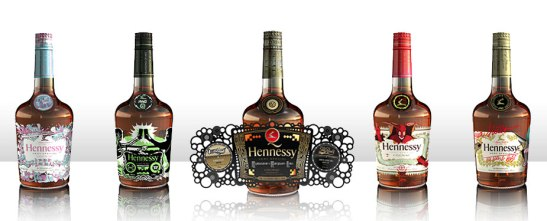 Hennessy Blending of Art Bottles