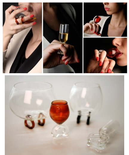 Cognac Glass Ring By Remy Martin
