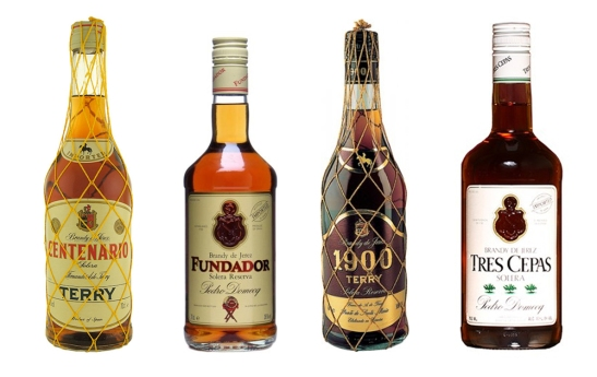 Spanish Brandy from Suntory: Centenario, Fundador, 1900 Terry, Tres Cepas