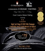 Comandon Cognac Pairing Dinner at the Skyroom Restaurant in Southern California