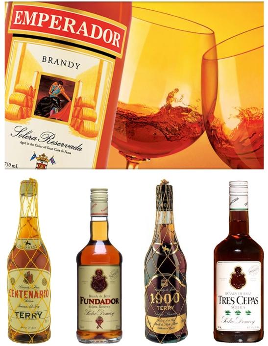 Emperador Brandy and Fundador Brandy