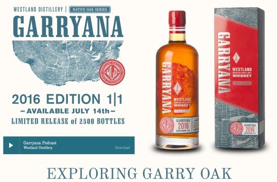 Whiskey Westland, Native Oark Series, Garryana